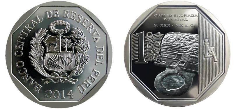 Moneda Caral - Un Nuevo Sol